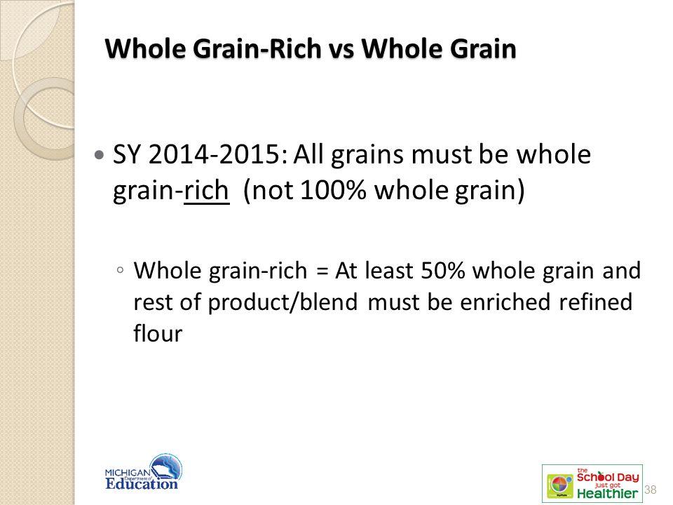 Whole Grain-Rich vs Whole Grain