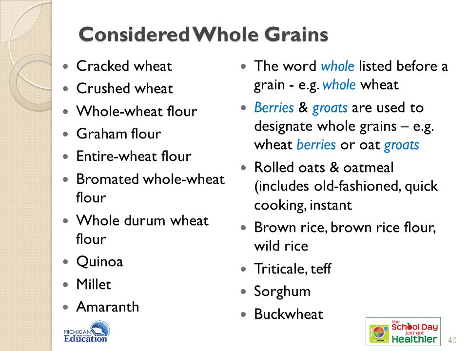 Considered Whole Grains