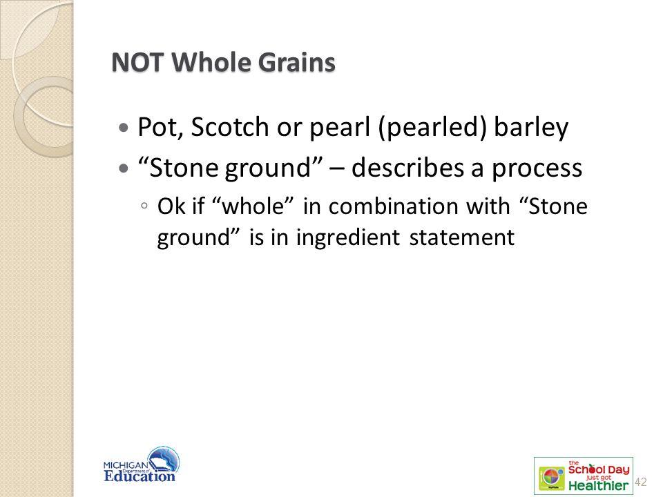 Pot, Scotch or pearl (pearled) barley