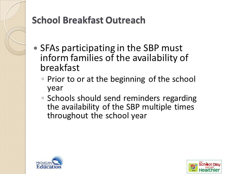 School Breakfast Outreach