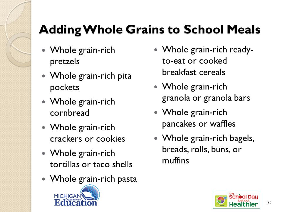 Adding Whole Grains to School Meals