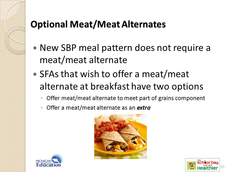 Optional Meat/Meat Alternates