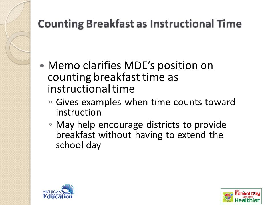 Counting Breakfast as Instructional Time