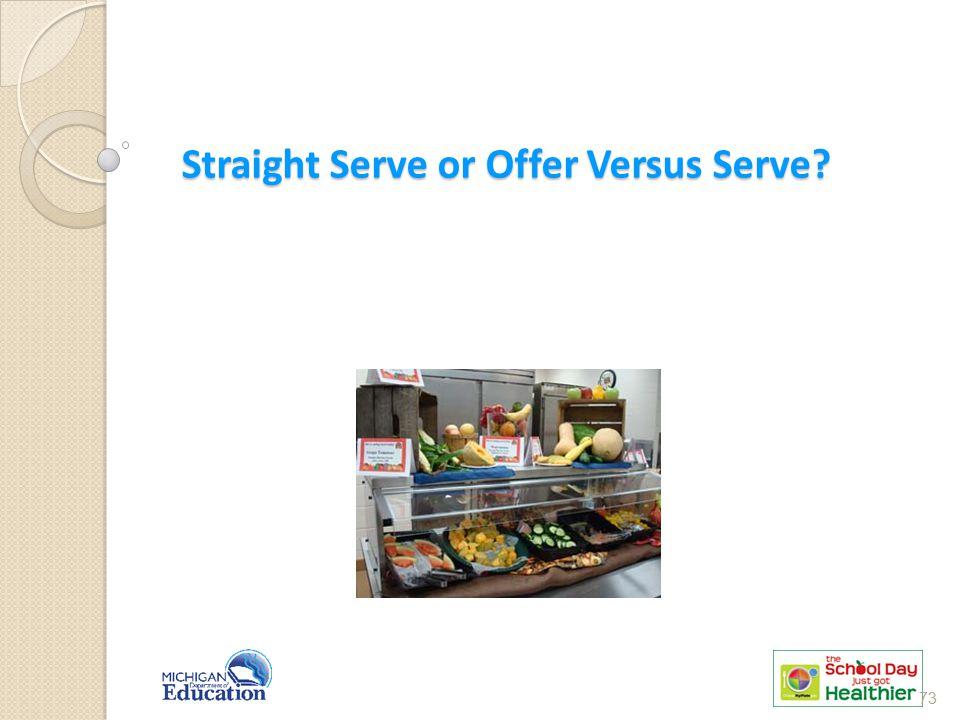 Straight Serve or Offer Versus Serve