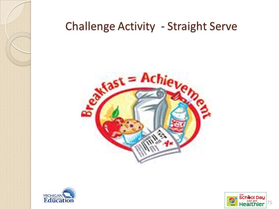 Challenge Activity - Straight Serve