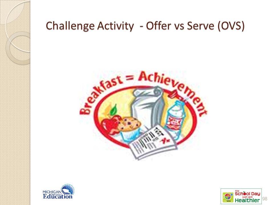 Challenge Activity - Offer vs Serve (OVS)