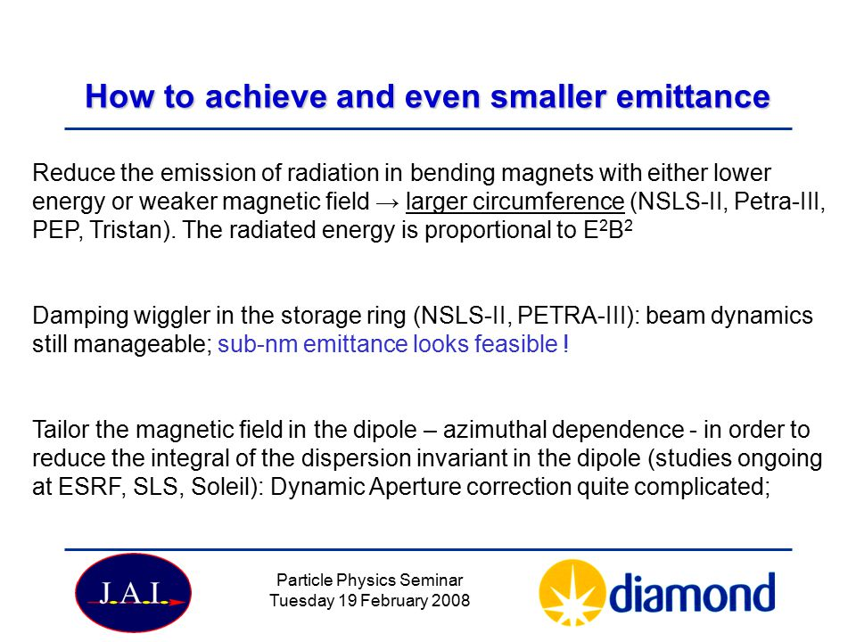 How to achieve and even smaller emittance
