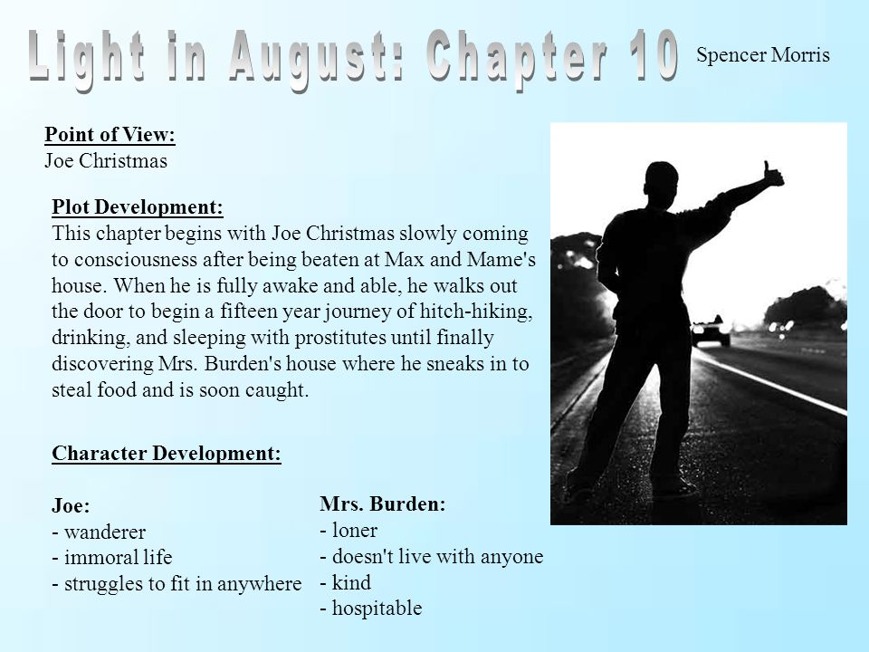 Light in August: Chapter 10