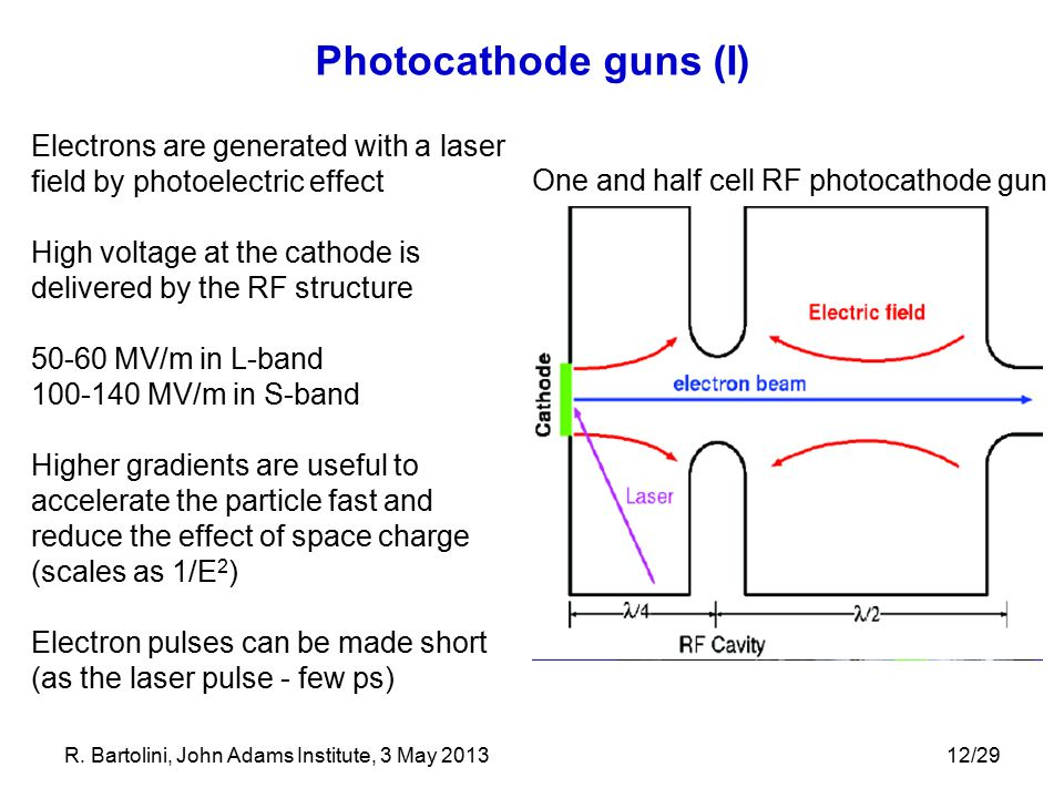 One and half cell RF photocathode gun