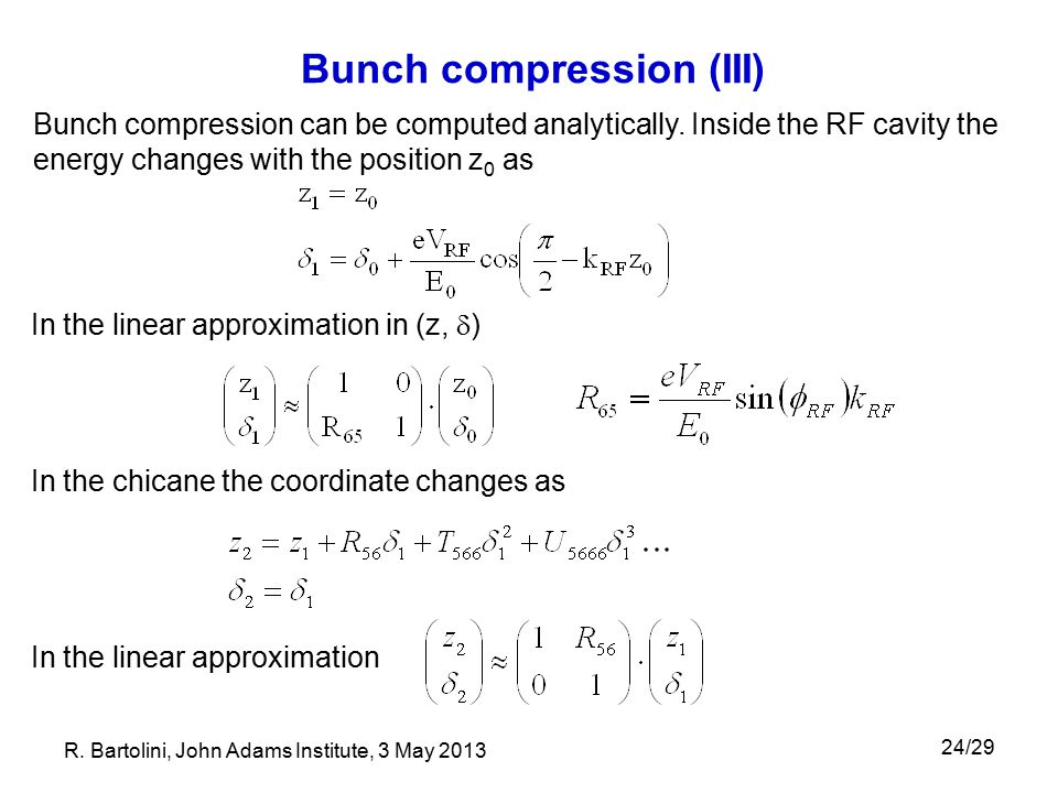 Bunch compression (III)