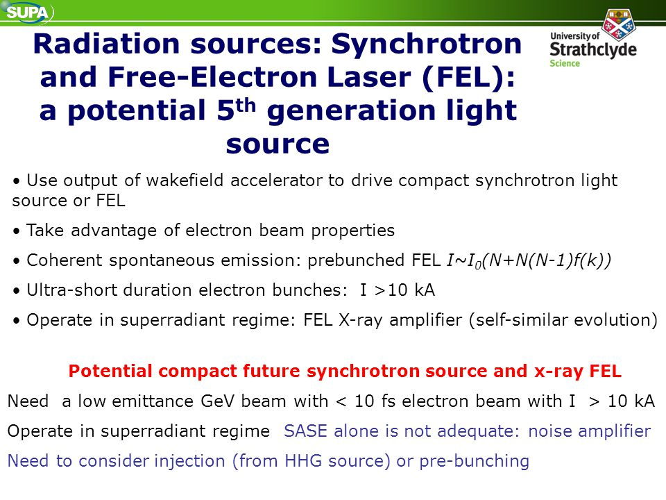 Potential compact future synchrotron source and x-ray FEL
