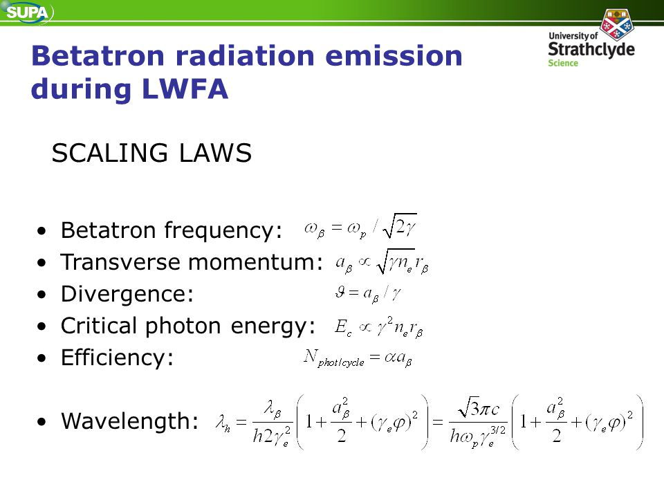 Betatron radiation emission during LWFA