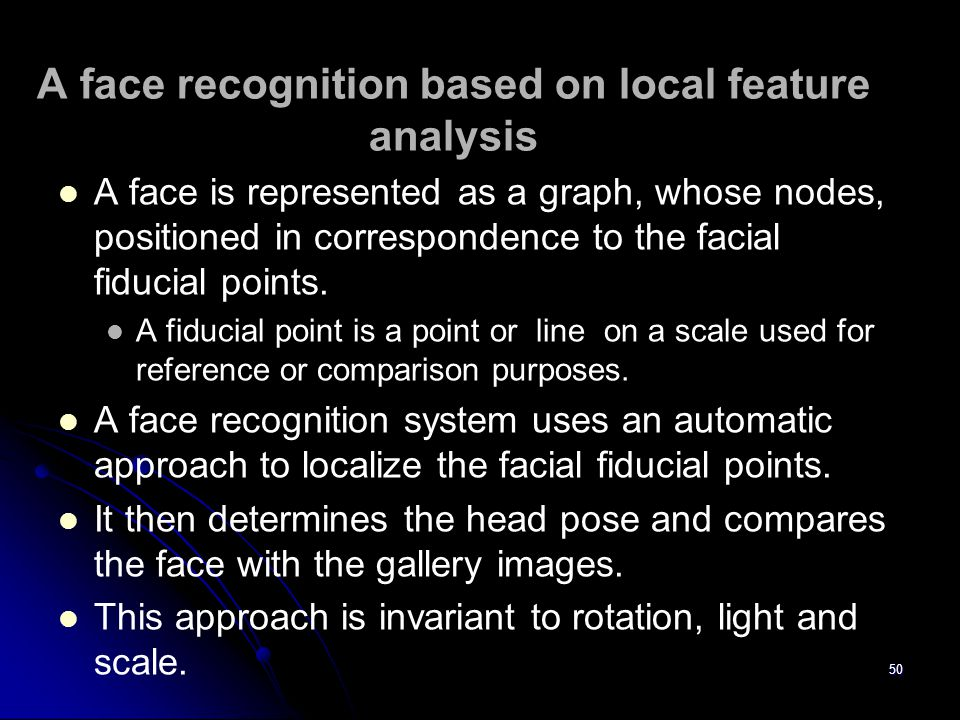 A face recognition based on local feature analysis