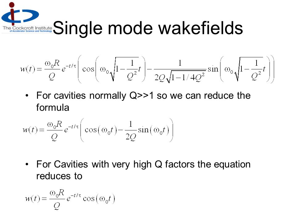 Single mode wakefields