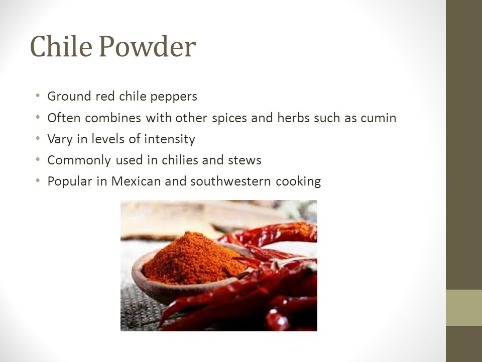 Chile Powder Ground red chile peppers