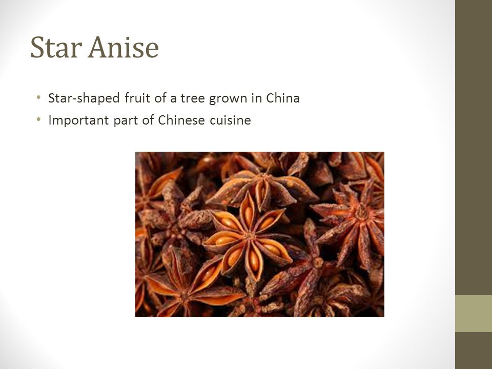 Star Anise Star-shaped fruit of a tree grown in China