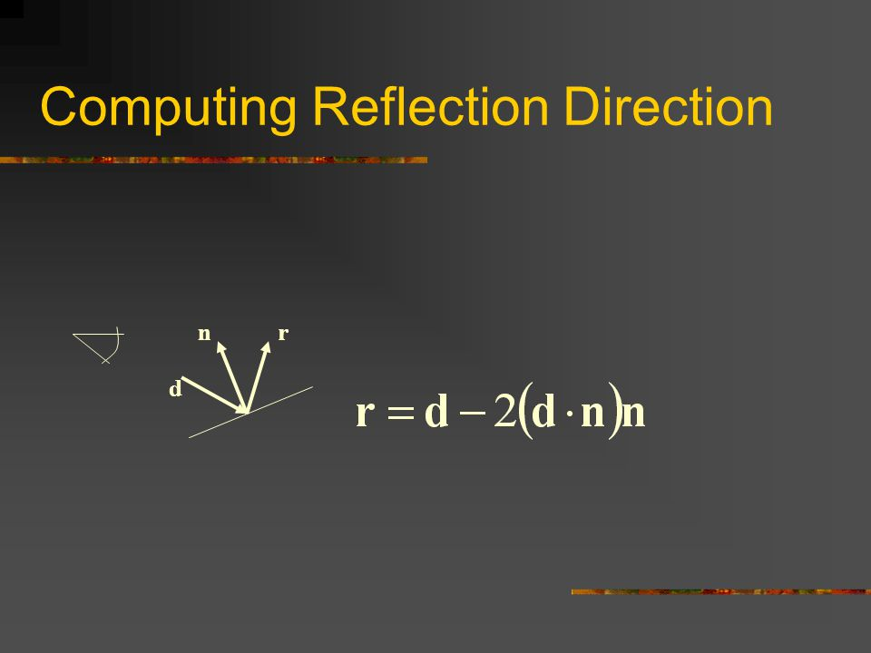 Computing Reflection Direction