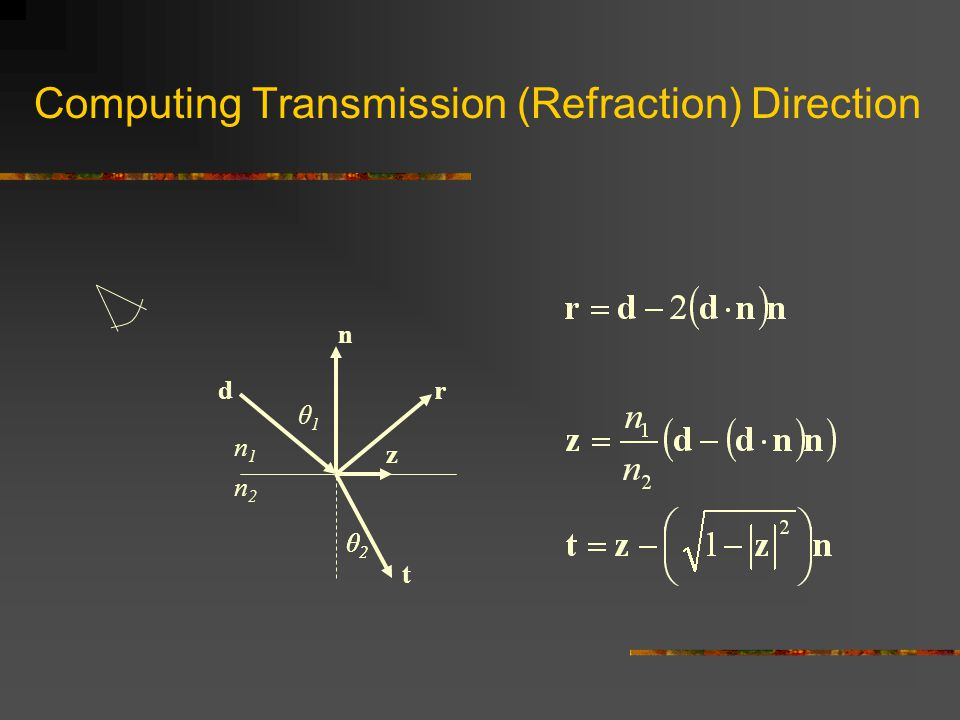 Computing Transmission (Refraction) Direction
