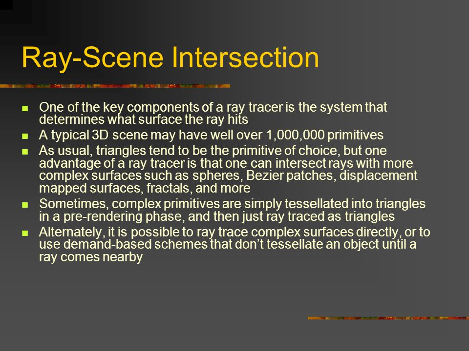 Ray-Scene Intersection
