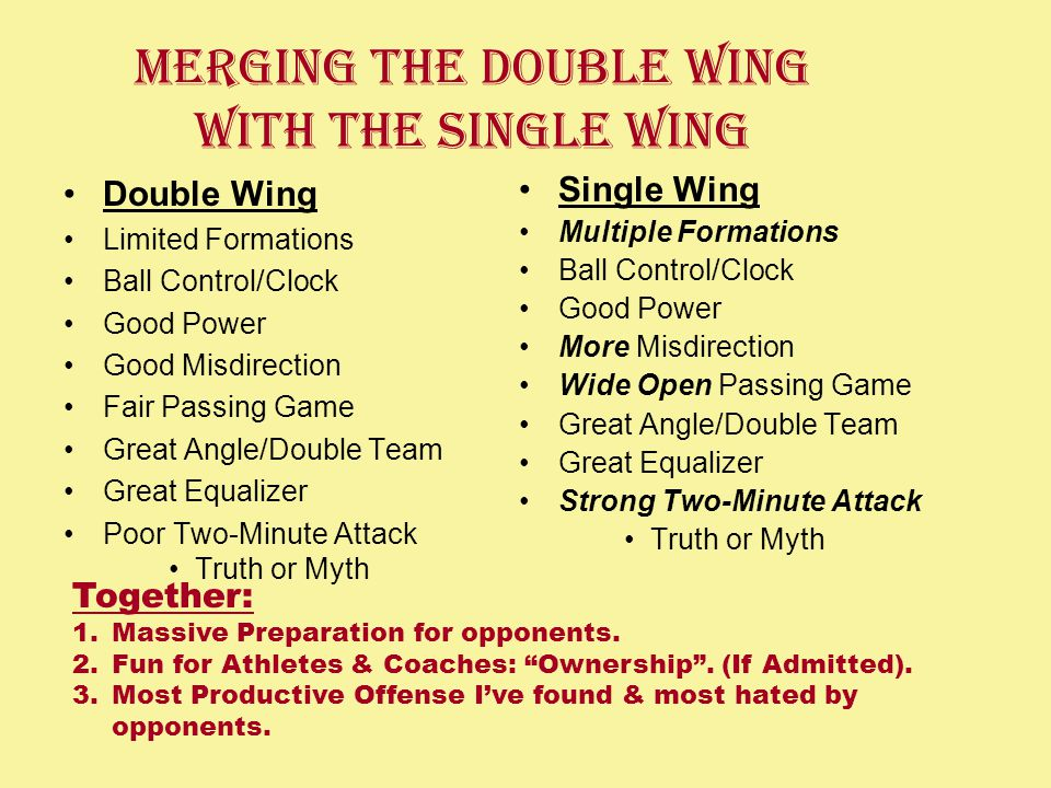 Merging the Double Wing With The Single Wing