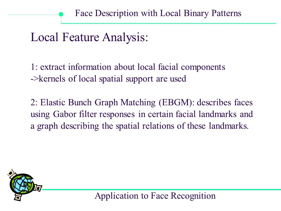 Local Feature Analysis: