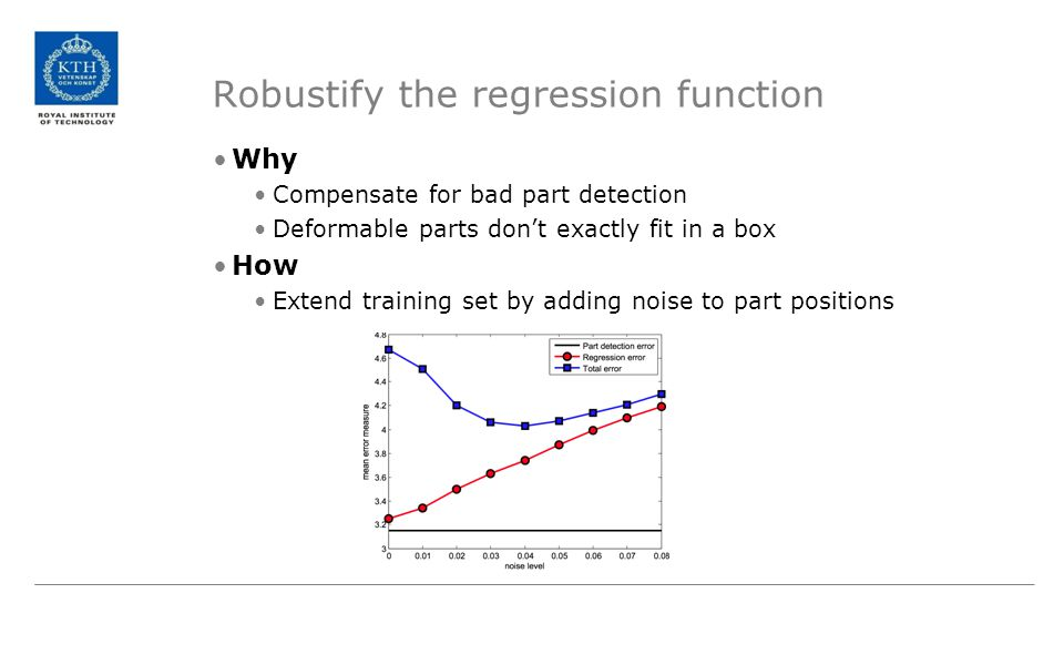 Robustify the regression function