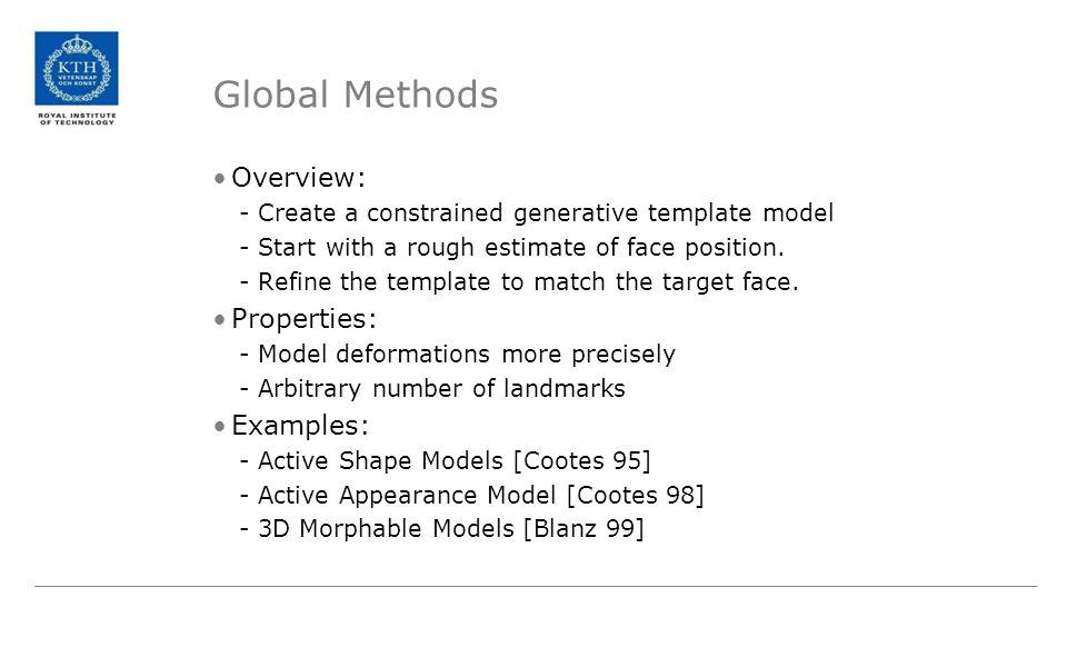 Global Methods Overview: Properties: Examples: