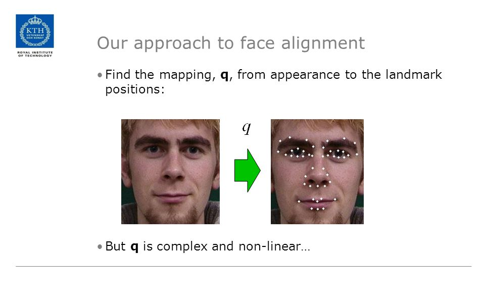 Our approach to face alignment