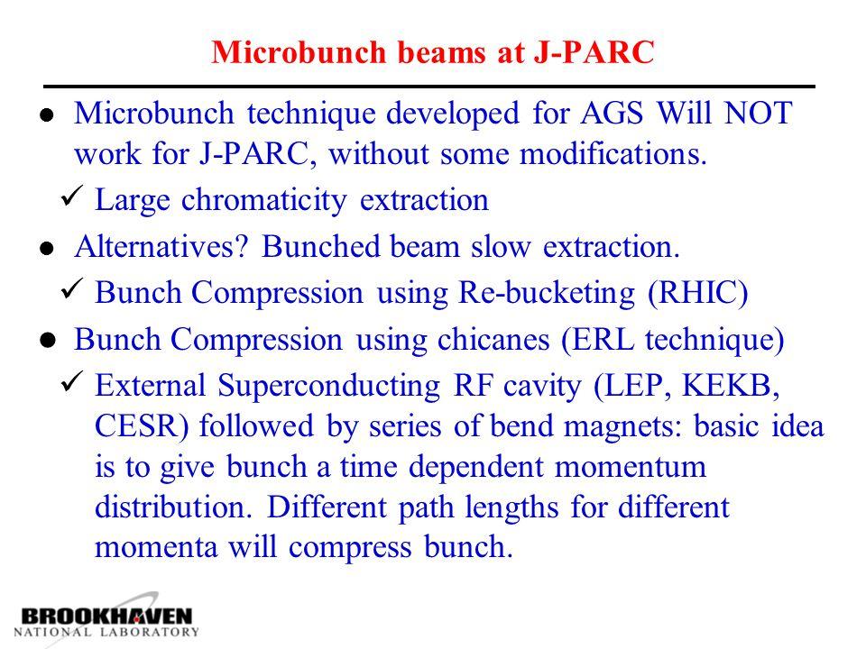 Microbunch beams at J-PARC