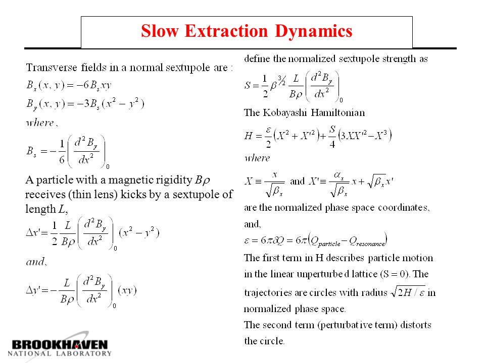 Slow Extraction Dynamics
