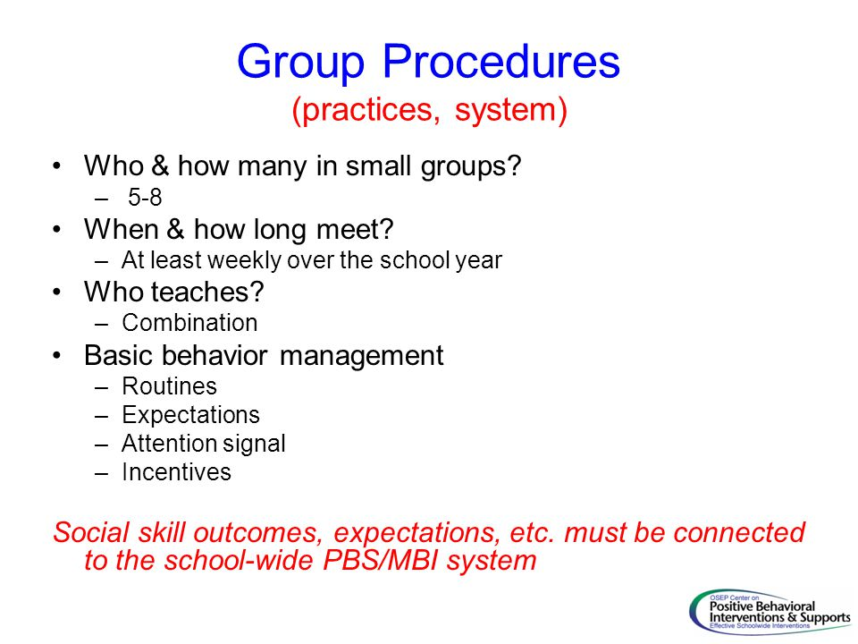 Group Procedures (practices, system)