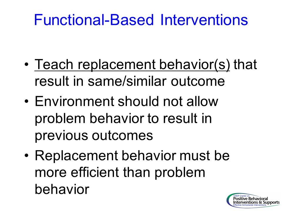 Functional-Based Interventions