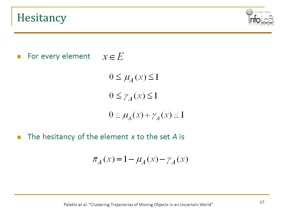 Hesitancy For every element