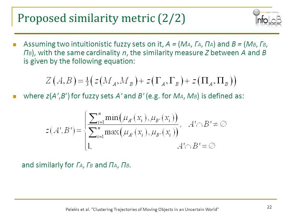 Proposed similarity metric (2/2)