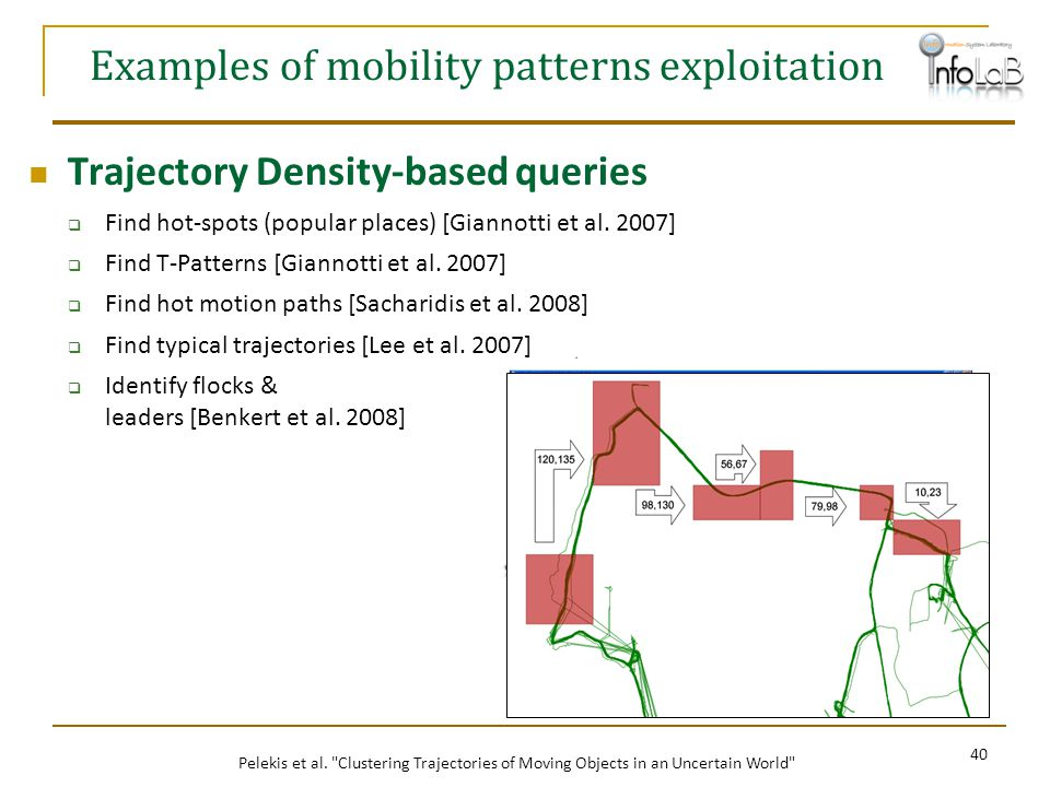 Examples of mobility patterns exploitation