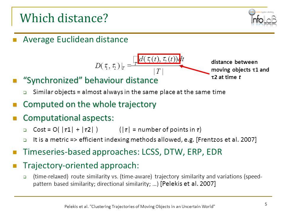 Which distance ò Average Euclidean distance