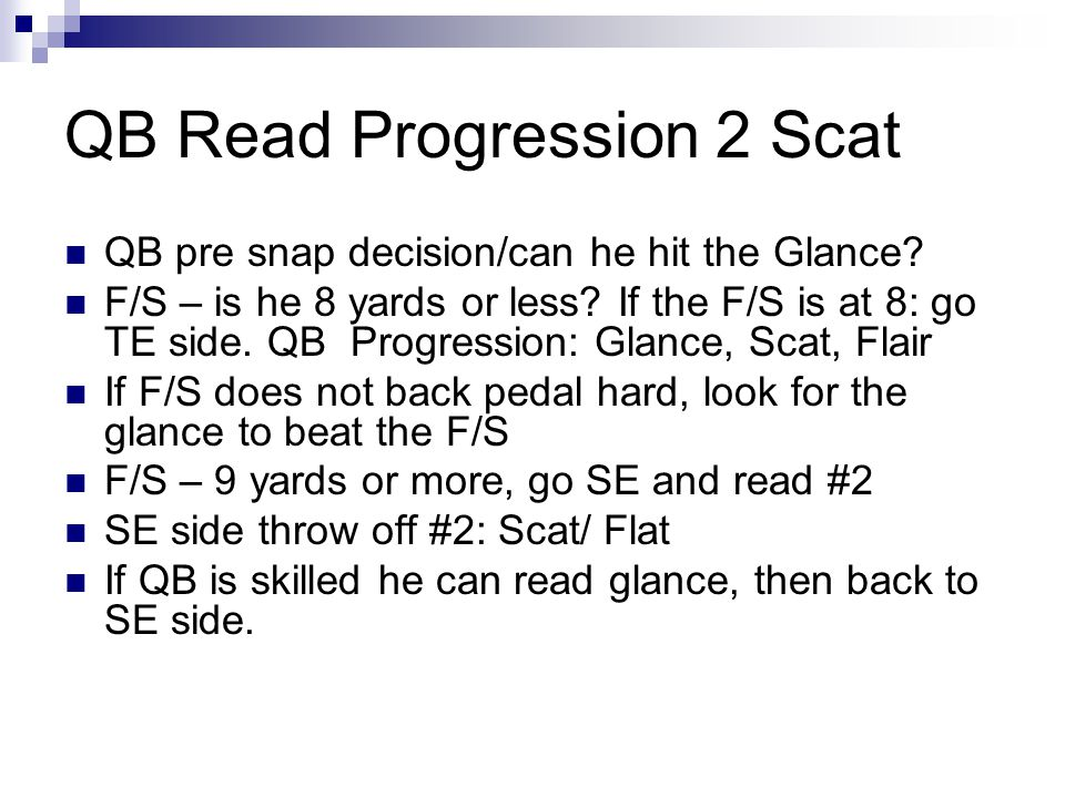 QB Read Progression 2 Scat