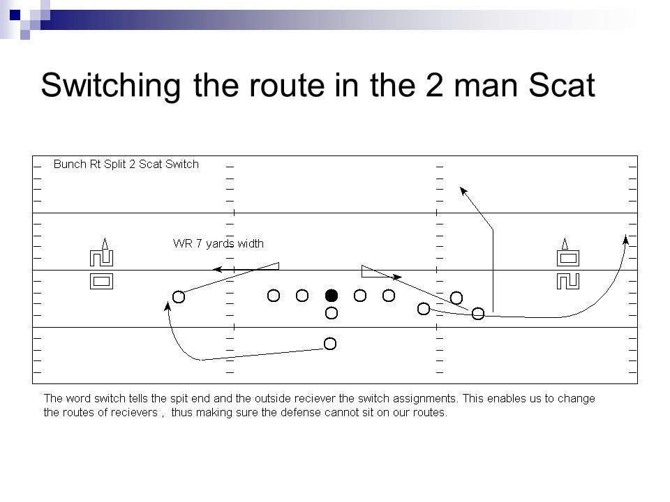 Switching the route in the 2 man Scat