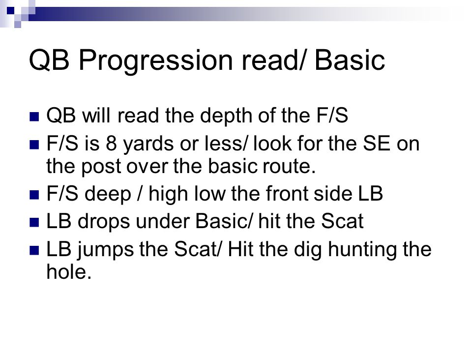QB Progression read/ Basic