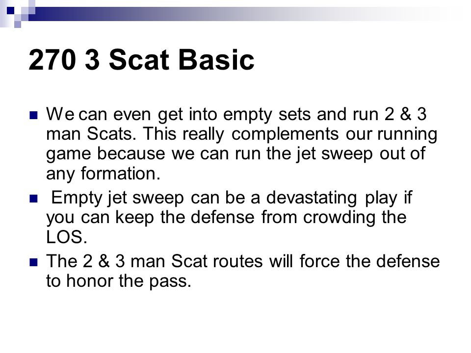 270 3 Scat Basic