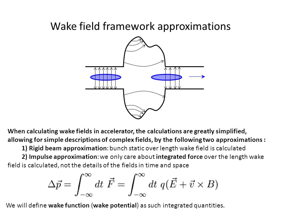 Wake field framework approximations
