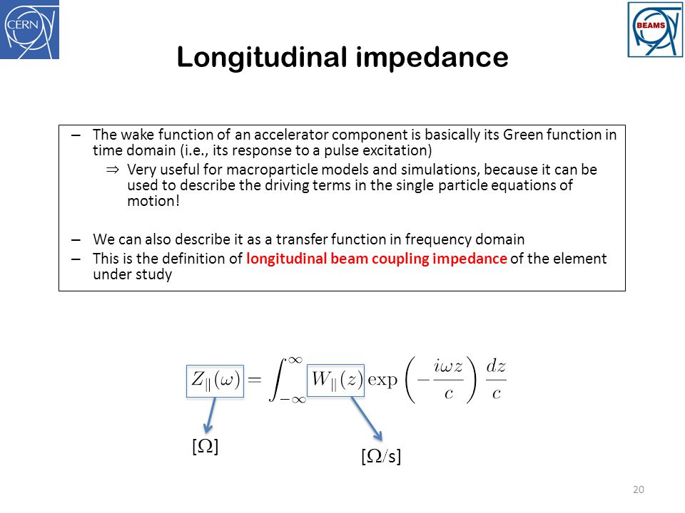 Longitudinal impedance