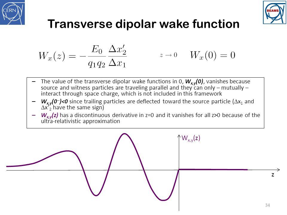 Transverse dipolar wake function