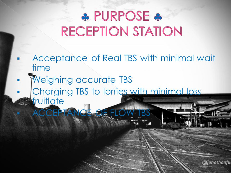  PURPOSE  RECEPTION STATION