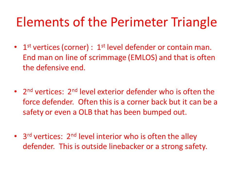 Elements of the Perimeter Triangle