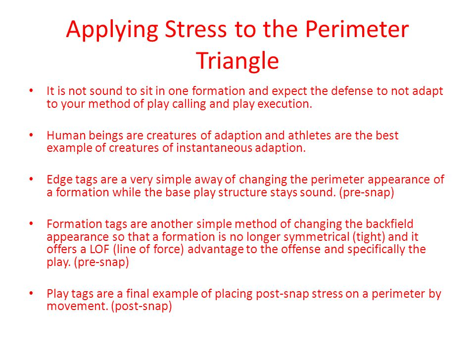 Applying Stress to the Perimeter Triangle