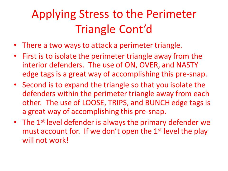 Applying Stress to the Perimeter Triangle Cont'd