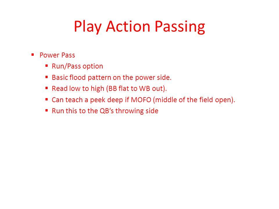 Play Action Passing Power Pass Run/Pass option