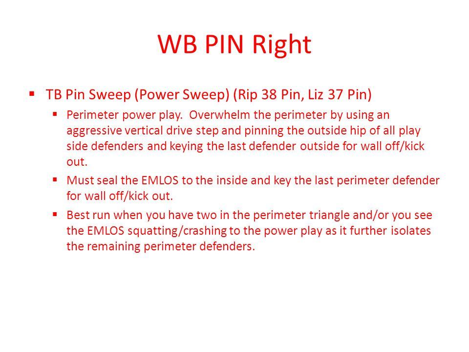 WB PIN Right TB Pin Sweep (Power Sweep) (Rip 38 Pin, Liz 37 Pin)