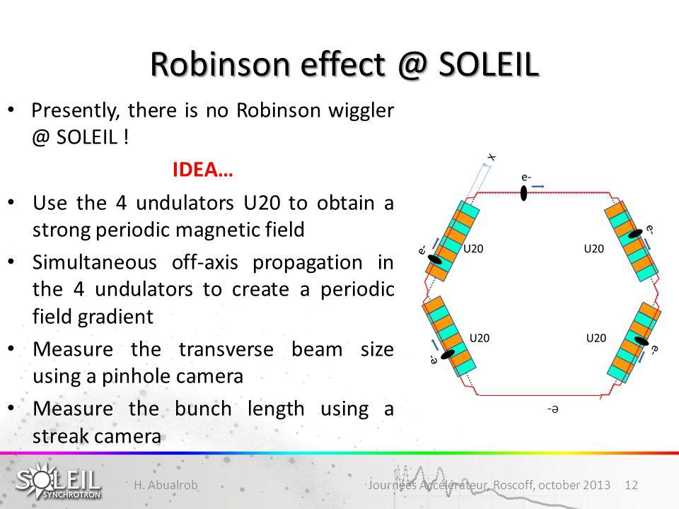Robinson effect @ SOLEIL